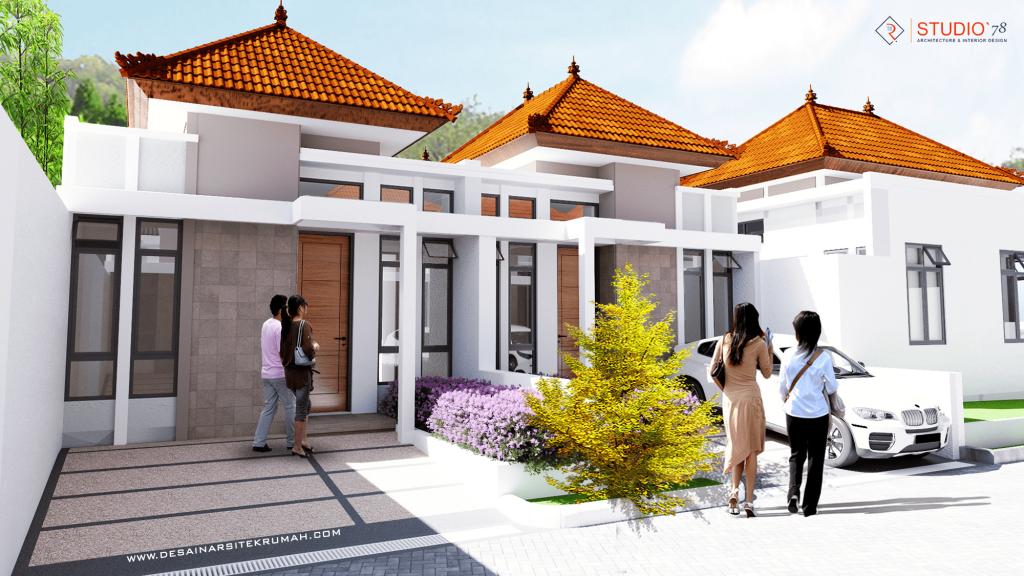 gambar tampak depan desain perumahan type 30 di malang jawa timur
