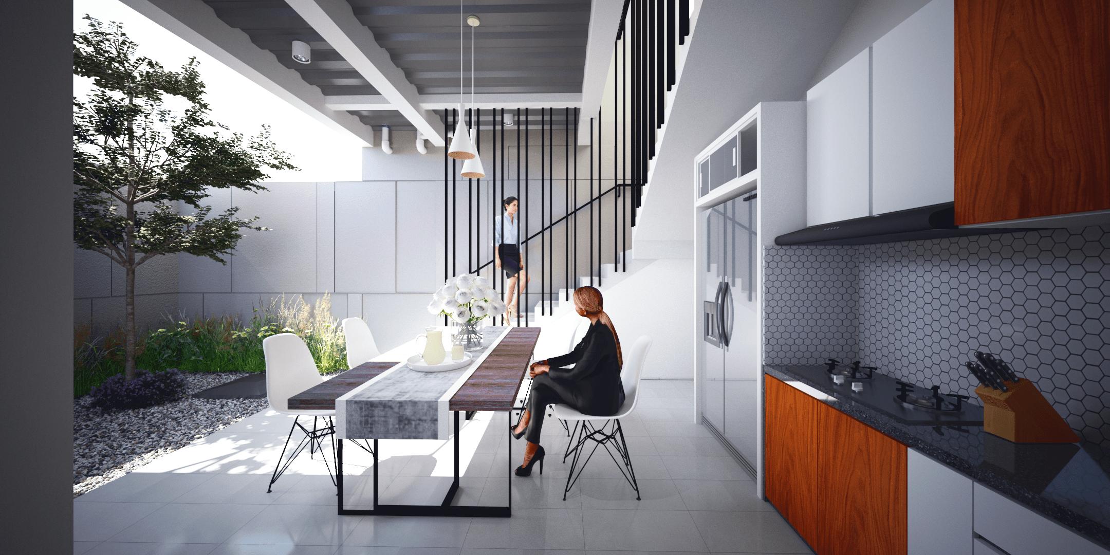 desain arsitektur renovasi interior ruang service area di malang jawa timur